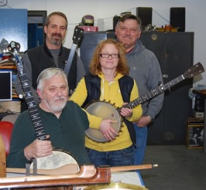 Bill Rickard with some members of his team, including Sean Sewell, Melissa Archer, and Al Box.
