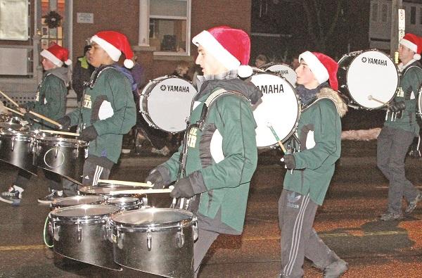 Cardinal Carter's marching band made its parade debut.